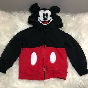 Disney Parks   Mickey Mouse Zip-Up Hoodie XXS/2T